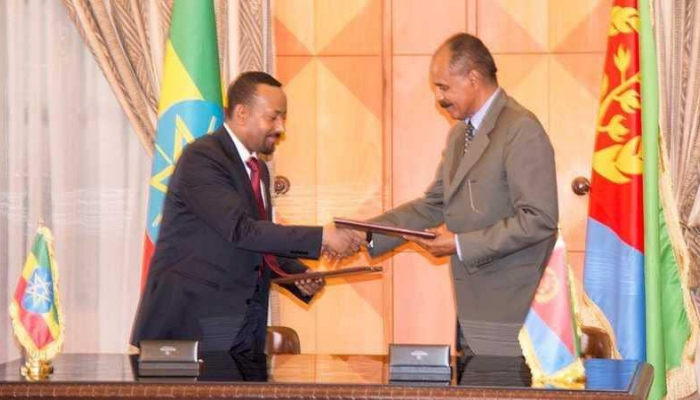 Ethiopian Prime Minister and Eritrean President Sign the Peace Agreement